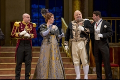 """11/11/15 1:10:40 PM -- The Lyric Opera of Chicago Presents """"The Merry Widow"""" Renée Fleming, Nicole Cabell, and Thomas Hampson © Todd Rosenberg Photography 2015"""